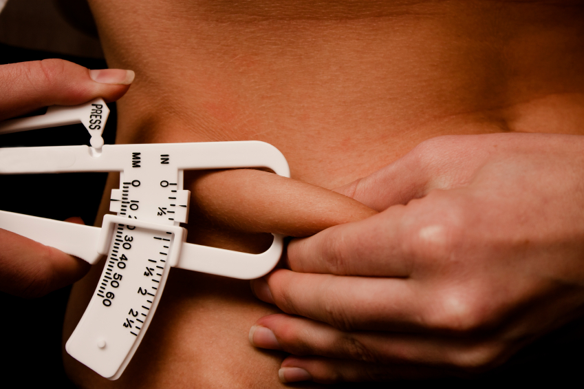 measure body fat percentage calipers